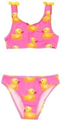 MC2 Saint Barth Duck Print Lycra Bikini W/ Bows