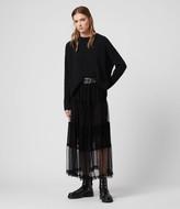 AllSaints Women's Regular Fit Renia Skirt, Black, Size: UK 6/US 2