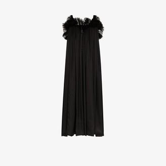 Balenciaga Lace Detail Silk Babydoll Dress
