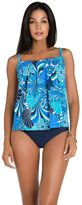 Women's Upstream Pleated Shell Tankini Top
