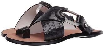 Rag & Bone August Slide (Black Croco) Women's Shoes