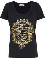 Pierre Balmain Metallic Printed Cotton-Jersey T-Shirt