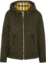 Burberry Hooded Quilted Shell Jacket - Army green