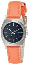 Nixon Women's A5092077 Small Time Teller Leather Analog Display Analog Quartz Watch