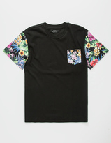 Asphalt Yacht Club Big Floral Boys Pocket Tee