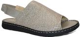La Plume Bone Python Asbury Leather Sandal