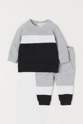 H&M Sweatshirt and Joggers - Black