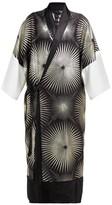 Haider Ackermann Sunburst Silk-blend Jacquard Opera Coat - Womens - Black