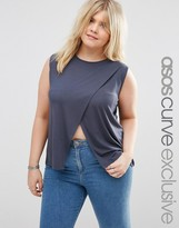 Asos Sleeveless Top with Wrap Front