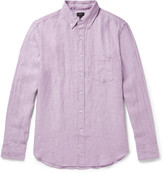 J.crew - Slim-fit Button-down Collar Slub Linen Shirt