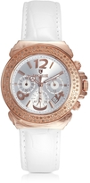 Lancaster Pillo Chrono Rose' Stainless Steel and Lether Women's Watch