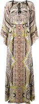 Etro paisley print long sleeve dress