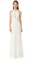 J. Mendel Piper Halter Neck Gown