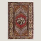 "4'2""x5'5"" Vintage Intricate Medallion Turkish Area Rug"
