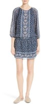 Joie Women's Ariella Print Silk Drop Waist Dress