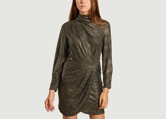IRO Paris - Gold Rasile Long Sleeves Dress - 34 | gold - Gold/Gold