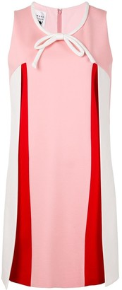 Edward Achour Paris Colour-Block A-Line Dress
