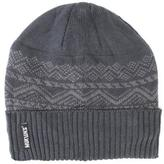 Muk Luks Men's Nordic Pattern Cap With Cuff And Fleece Lining - Grey