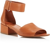 Vince Women's Rosalia Leather Block Heel Ankle Strap Sandals