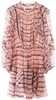 Ulla Johnson ABERDEEN TIE-DYE DRESS 4 Pink Silk
