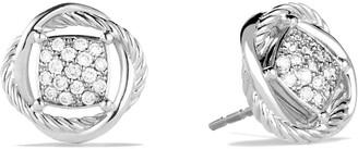 David Yurman 'Infinity' Pave Diamond Stud Earrings