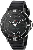 Tommy Hilfiger Men's Quartz Resin and Silicone Casual Watch, Color:Black (Model: 1791249)
