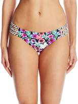Jessica Simpson Women's Botanica Side Strap Hipster Bikini Bottom