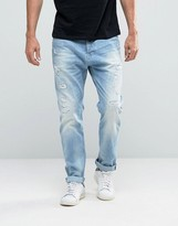 Scotch & Soda Scotch And Soda Ripped Loose Fit Jeans