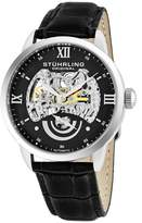 Stuhrling Original Men's 574.02 Symphony Aristocrat Executive II Automatic Skeleton Dial Watch