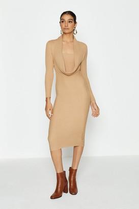 Coast Cowl Neck Rib Knitted Dress