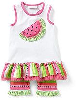 Bonnie Jean Bonnie Baby Girls 12-24 Months Watermelon-Appliqued Dress & Striped Bike Shorts Set