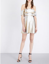 Sandro Palacio metallic off-the-shoulder dress