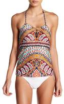 Nanette Lepore Super Fly Honey Print Tankini Bikini Top