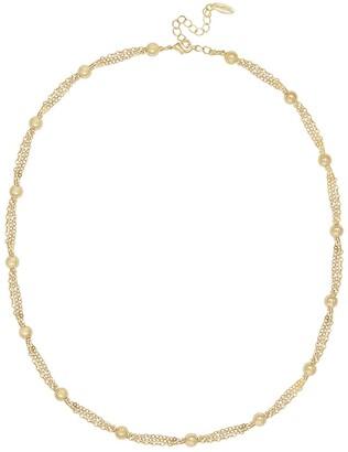 Ettika Gold Tone Multi Ball Chain Layered Necklace