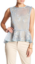 Gracia Embroidered Floral Mesh Shirt