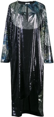 Ganni Sequinned Midi Dress