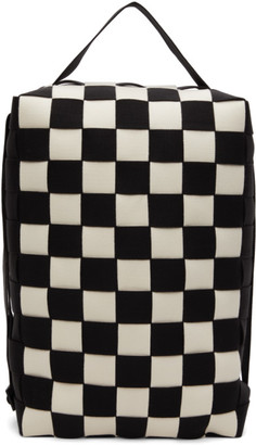 Issey Miyake Black and White Ichimatsu Backpack