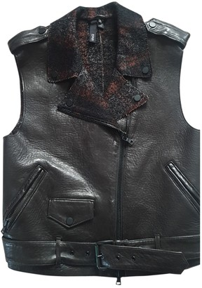 Edun Black Leather Leather Jacket for Women