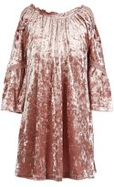 My Michelle Big Girls 7-16 Flutter-Sleeve Velvet Dress