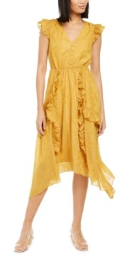 INC International Concepts Inc Ruffled Button-Front Midi Dress, Created for Macy's