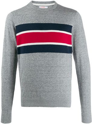 Sun 68 stripe detail sweater