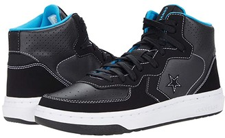 Converse Rival Synthetic Leather Suede Mid (Black/Almost Black/White) Athletic Shoes