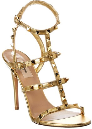 Valentino Rockstud Leather Ankle Strap