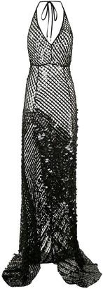 AMIR SLAMA sequinned maxi dress