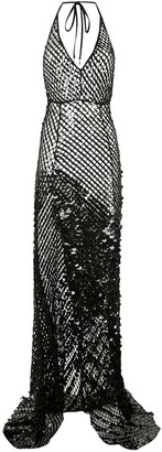 AMIR SLAMA Sequinned Maxi Dress