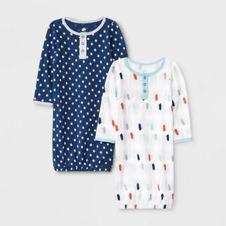 Baby Boys' 2pk Little Peanut Night Gown Pajama Set - Cloud IslandTM