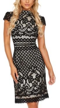 Quiz Lace High-Neck Dress