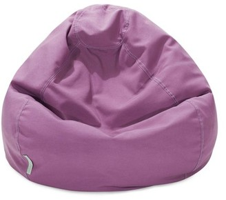 Majestic Home Goods Indoor Outdoor Lilac Solid Classic Bean Bag Chair 28 in L x 28 in W x 22 in H