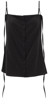 Lemaire Buttoned Silk-blend Cami Top - Womens - Black