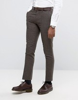 Rudie Slim Fit Suit Trousers In Paddy Brown